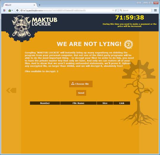Maktub加密勒索軟體/勒索病毒 Ransomware