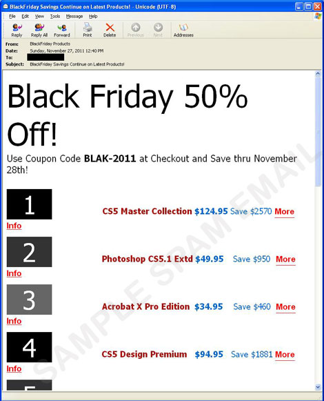 Black Friday And Cyber Monday Spam Offer Fake Discounts Threat Encyclopedia Trend Micro Usa