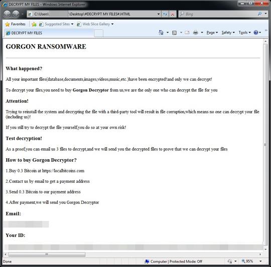 Ransom Win32 GORGON THOABHAI - Threat Encyclopedia - Trend Micro USA