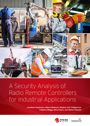 A Security Analysis of Radio Remote Controllers for Industrial Applications
