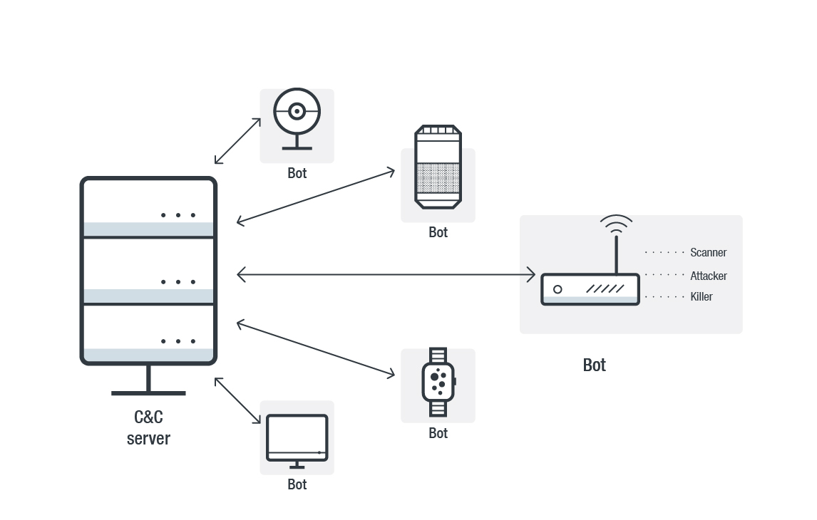 Figure 1. Components of an IoT botnet