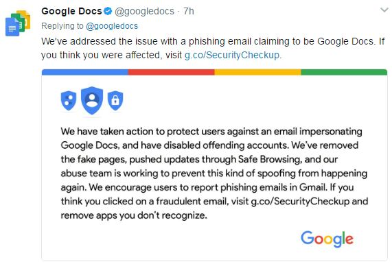 Attack Uses Fake Google Docs Application to Access Gmail
