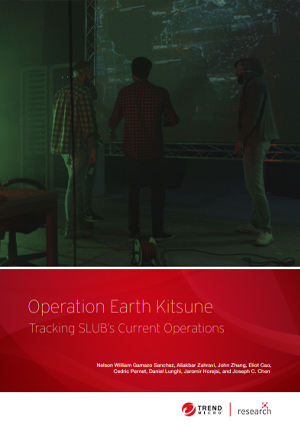 Operation Earth Kitsune: Tracking SLUB's Current Operations