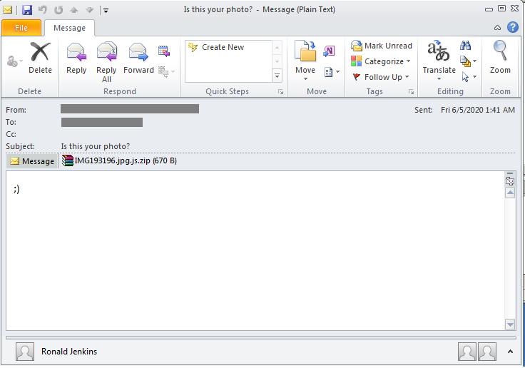 圖1. Avaddon惡意活動的郵件樣本