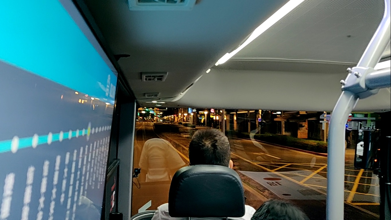 Self-driving bus, passenger view