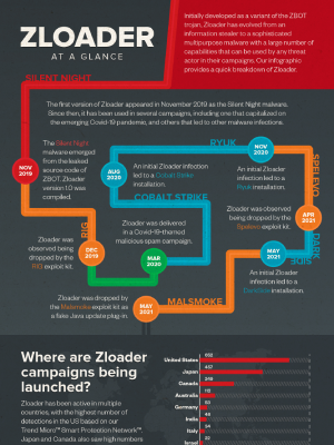 Zloader Campaigns at a Glance Infographic