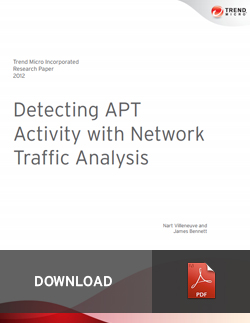 Detecting APT Activity with Network Traffic Analysis
