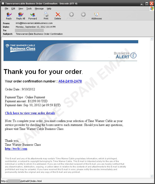 How Do I Access My Time Warner Cable Email: Blackhole Exploit Kit Spam Run Using Time Warner Cable Name - Threat rh:trendmicro.com,Design