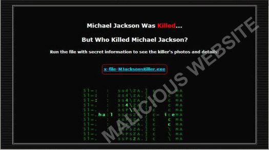 図2. ジャクソン殺害についての情報が得られるはずのWebサイト