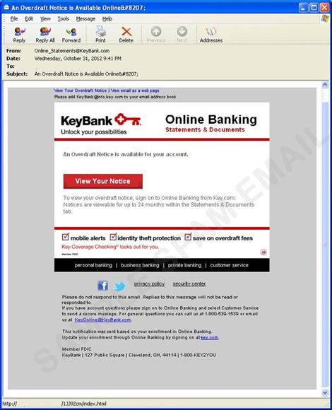 Blackhole Exploit Kit Spam Targets Keybank - Threat