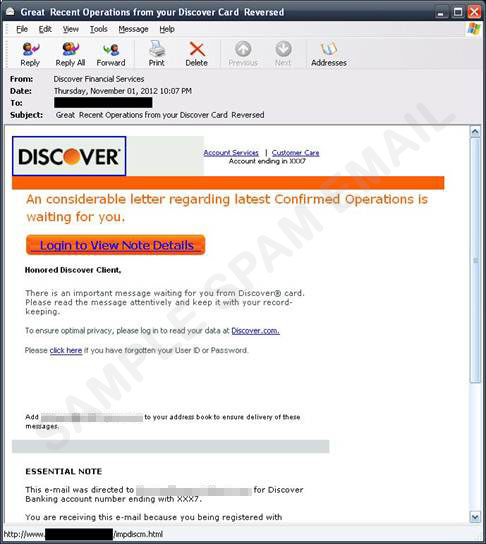 Great Recent Operations from your Discover Card Reversed