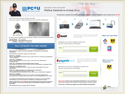 警察勒索病毒不僅會顯示勒索頁面,還會播放聲音檔,警告你快點繳罰款