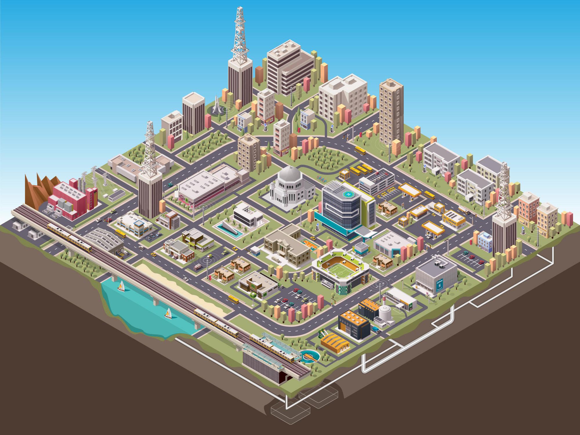 Токио картинки города в карандаше