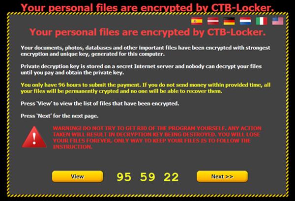 勒索軟體/勒索病毒/綁架病毒 CTB Locker