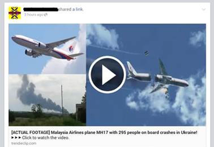 Malaysia Airlines MH17 Crash Becomes Bait on Twitter, Facebook